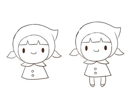 宝宝简笔画,儿童画画,卡哇伊小红帽