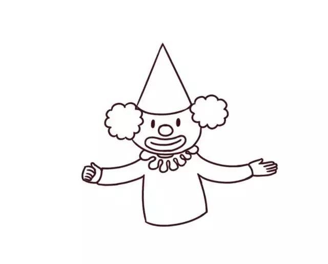简笔画|小丑给你送气球来啦,简单益智