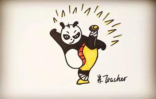 手把手教你画可爱的功夫熊猫,小朋友也能学会!