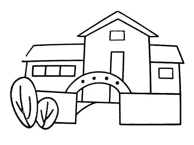 幼兒園房子簡筆畫系列,上色更漂亮,為孩子收藏!