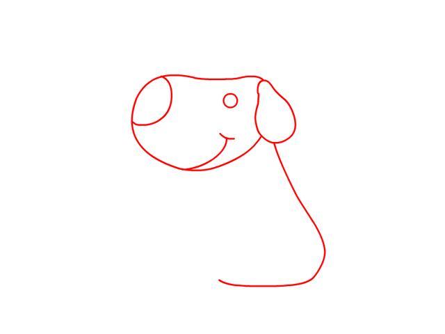 一步一步教你,如何画一个可爱的小狗,宝宝一看就会