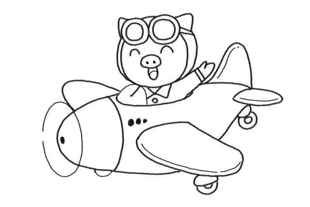 简笔画 猪年就要画小猪,步骤超详细,一学就会,快为宝宝收藏!