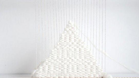 用废旧棉线手工编织杯垫的编发图解教程