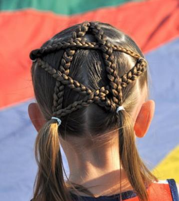 五角星辫子怎么梳图解小女孩五角星辫子发型扎法