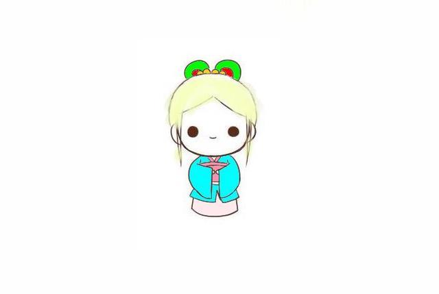 宝宝简笔画,儿童画画,聪明伶俐的人偶
