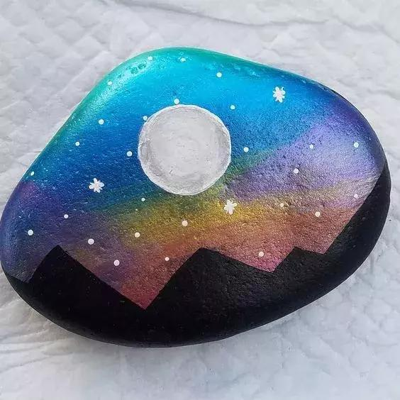 60款美轮美奂的石头创意手工,get幼儿园手工作业满分技巧!