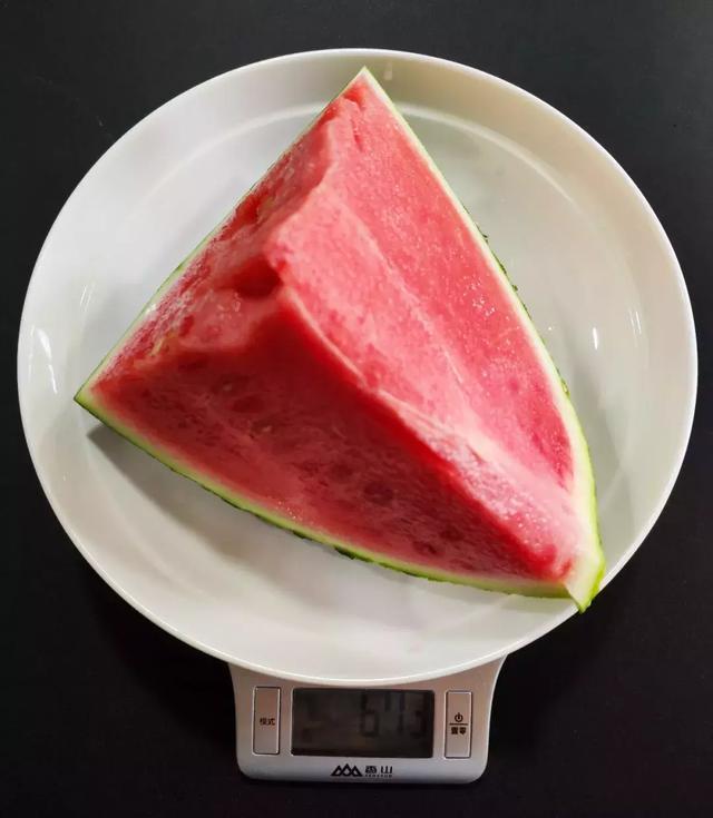 673克带皮西瓜,可食用的部分为500克