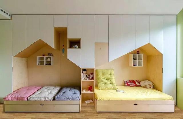 三款两孩儿童房创意设计,二胎儿童房也能这么棒!