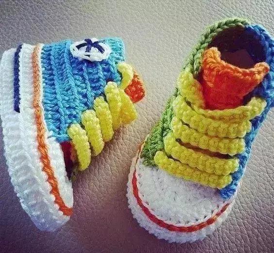 超萌的宝宝钩针鞋!太可爱了,宝妈们学起来!