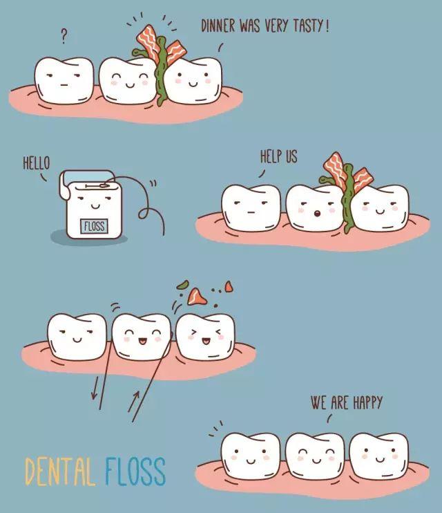 *猜你喜欢*      因为刷牙,很难刷到两颗牙齿中间的缝隙,很多幼儿园