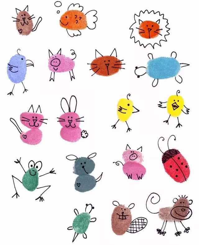 画好的小动物还可以做成纪念胸章呢
