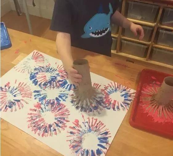 幼儿烟花手工制作方法