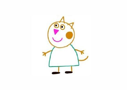 宝宝简笔画,儿童卡通绘画,candycat糖果猫