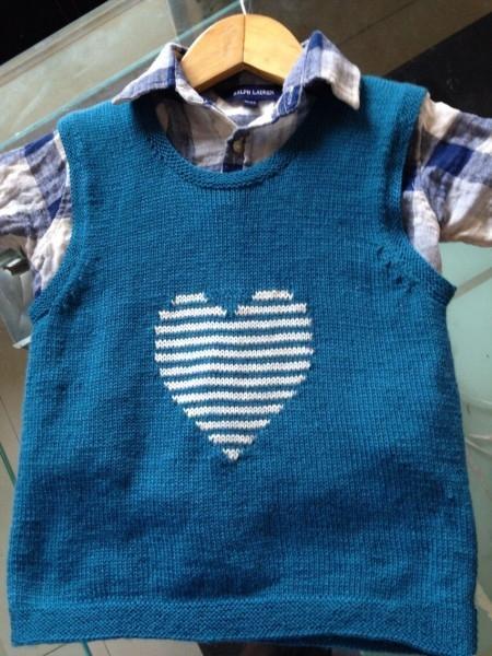 简单漂亮的爱心小宝宝背心编织,附简单教程与图解