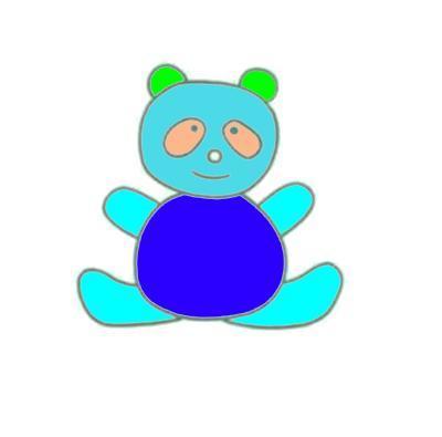 男宝女宝宝简笔画,幼儿园美术画,温顺的小熊