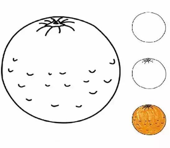 超简单的水果,蔬菜幼儿简笔画,快帮孩子收藏起来!
