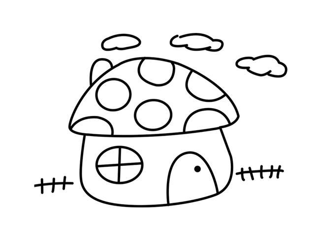 房子简笔画素材:老师都收藏,宝宝喜欢画