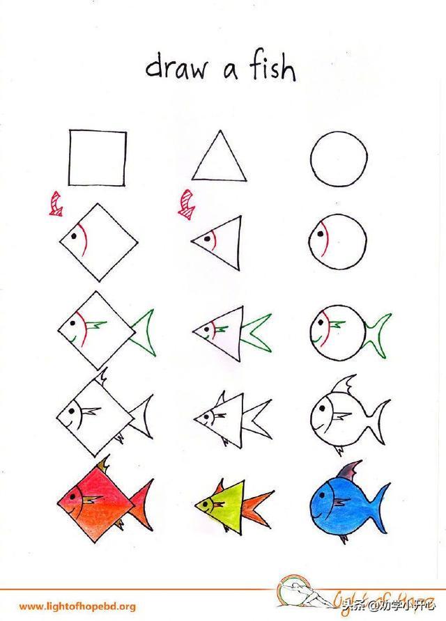 简单易学的小动物,和小朋友一起画起来吧!(附教程)