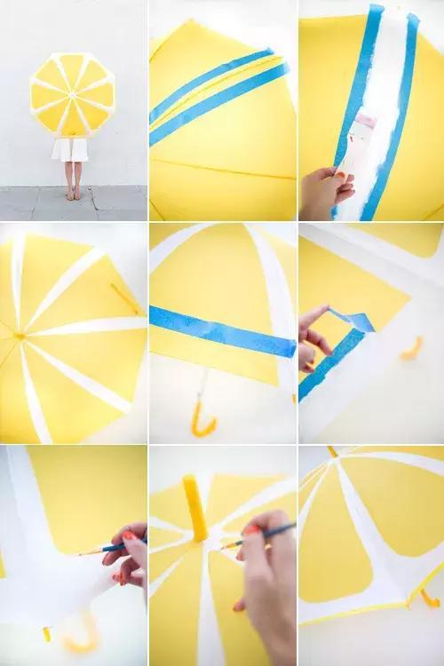 *猜你喜欢*  柠檬雨伞制作步骤:  1.