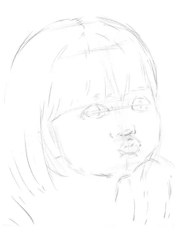 素描教程|大眼萌嘟嘴的小女孩 - 宝宝爱早教 - 妈妈帮