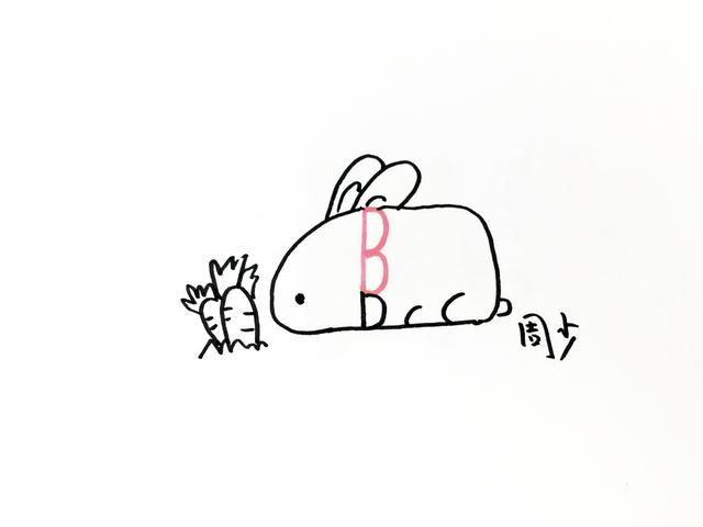 """""""趣味字母变形简笔画"""",通过一个字母去变形,画出不同的小动物,非常有"""