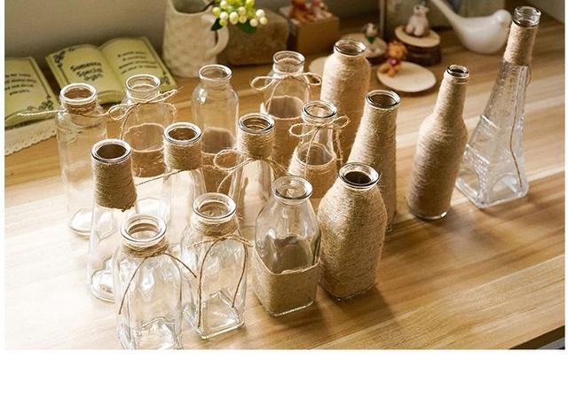 幼儿园手工diy麻绳创意花瓶!美工区,操作区,观赏摆放!