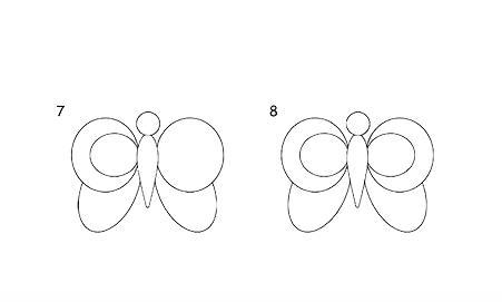 宝宝简笔画,儿童美术画,飞来飞去的蝴蝶