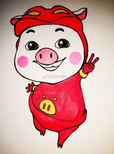 猪猪侠简笔画教程~宝妈亲子活动素材哦