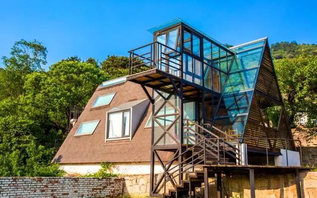 一层别墅尖顶造型图片