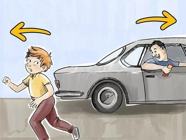 孩子坐汽车素材