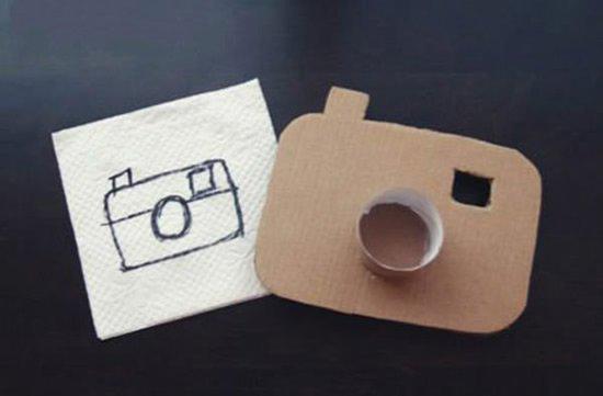 硬纸板手工制作相机儿童做玩具相机的教程