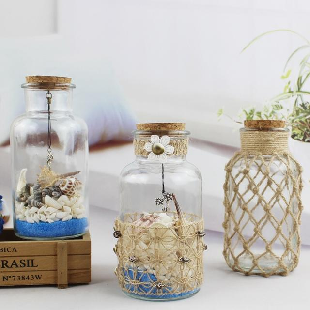 幼兒園手工diy麻繩創意花瓶!美工區,操作區,觀賞擺放!圖片