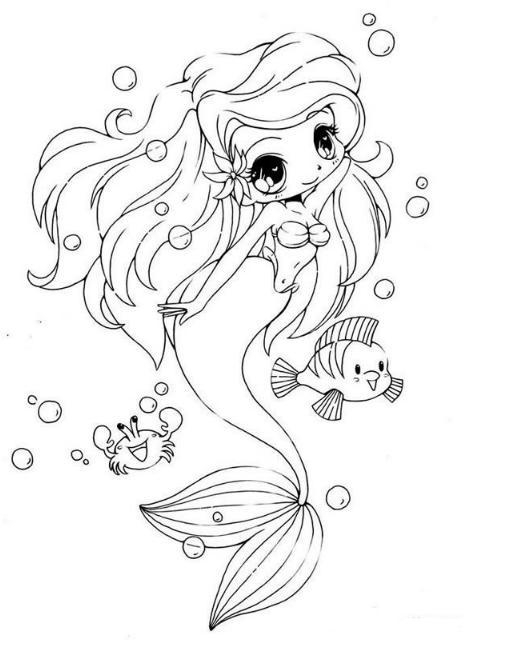 10款简单漂亮的美人鱼简笔画图片大全