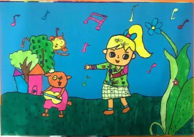 「绘画作品」幼儿园美术:儿童画如何画?