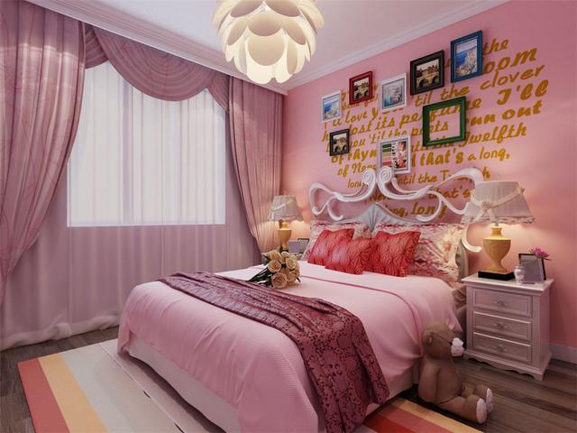 儿童公主房装修设计,给美丽的女儿打造一个粉色公主梦