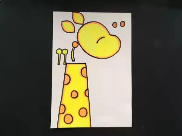 儿童手工纸杯制作大全小动物长颈鹿的做法图解