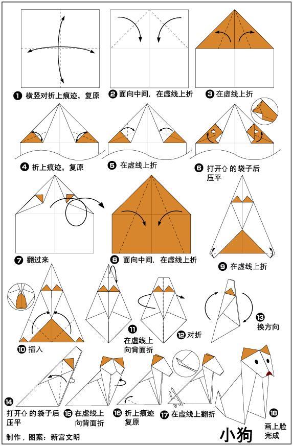 幼儿折纸教学,小动物折纸全视角教学,一看就会