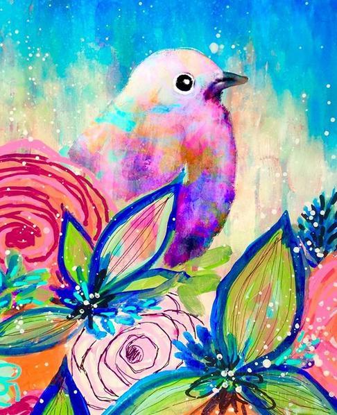 儿童画怎么画色彩斑斓的小鸟?简单有趣!