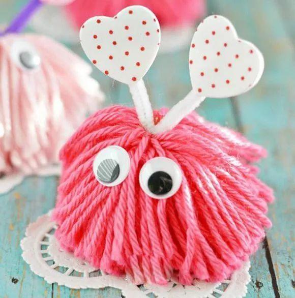 「创意手工diy」简单毛线制作可爱小怪物