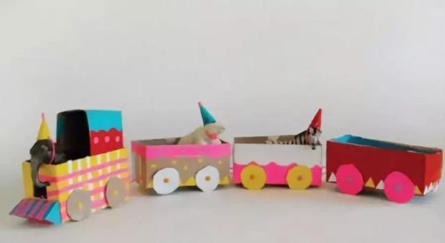 制作纸火车图纸