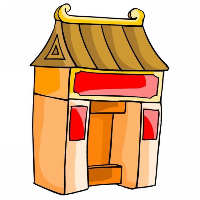 「绘画素材」卡通古代建筑(第一组) - 宝宝爱早教