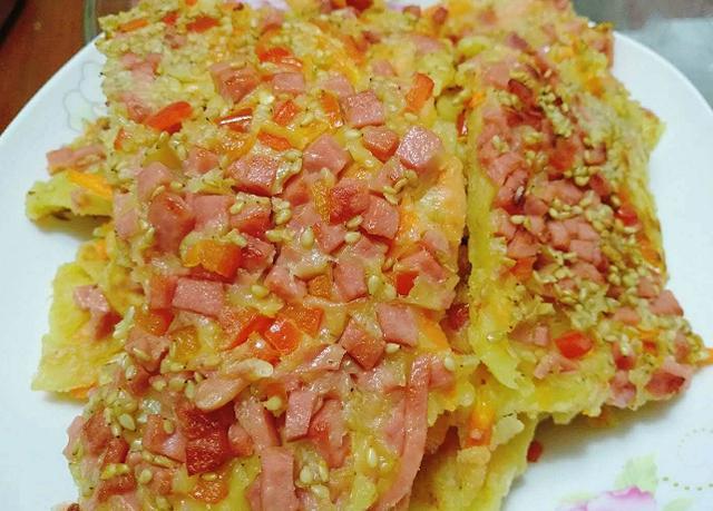 胡萝卜鸡蛋饼最经典的做法,里面还能带馅,端上桌瞬间秒光