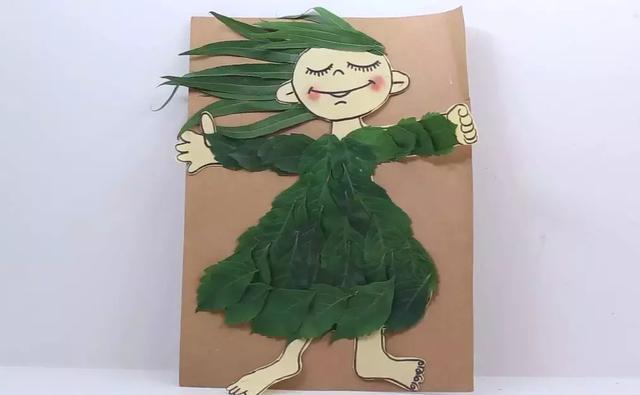 树叶拼贴画,魅力四射的爱莎公主图片