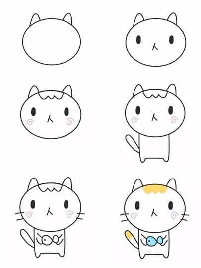 每日一画丨幼儿园级别简单可爱的小动物,零基础简笔画
