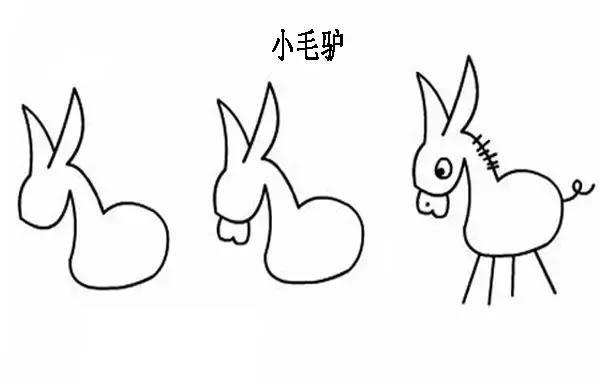 简笔画丨用简单的图形画可爱的动植物,可以用在黑板报