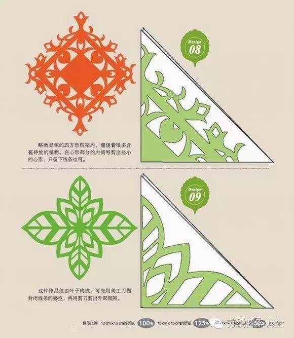 图 解     除了学习传统的花样,我们还可以进一步创新~     相框剪纸