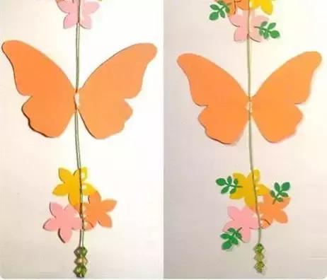 *猜你喜欢*      在彩纸上裁剪出蝴蝶,花朵,叶子的形状,     蝴蝶大