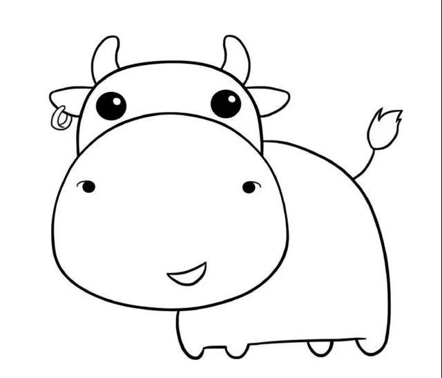 亲子简笔画|确认过眼神,是一头阔爱的牛牛~学起来吧