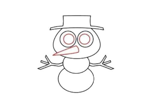 宝宝简笔画,儿童画画,胖乎乎的雪人 - 家庭教育